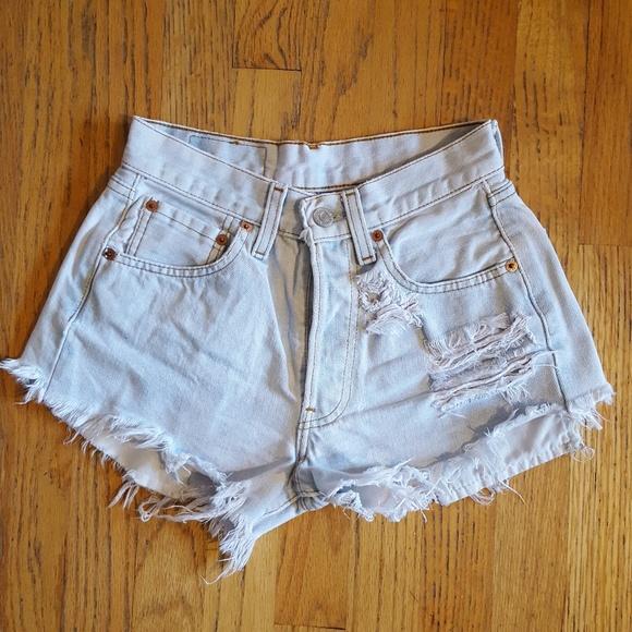 ead284fb50 Levi's Shorts | Levis 501 Vintage Destroyed Daisy Dukes Xs 26 | Poshmark